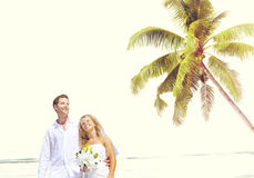 Couple Romance Beach Love Marriage Concept Stock Photography