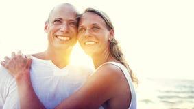 Couple Romantic Beach Vacation Holiday Trip Concept Stock Photos