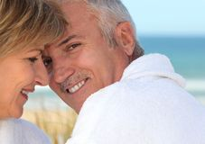 Couple on romantic break Royalty Free Stock Image