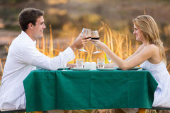 Couple romantic dinner Royalty Free Stock Image