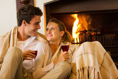 Couple romantic evening Royalty Free Stock Photography