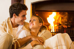 Couple romantic evening Royalty Free Stock Image
