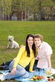 Couple at romantic picnic Royalty Free Stock Photography
