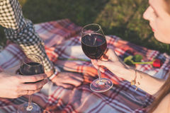 Couple on romantic picnic Stock Photography