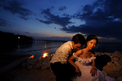 Couple romanticevening Royalty Free Stock Image