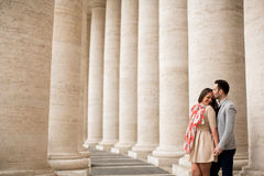 Couple in Rome Stock Image