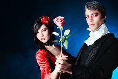 Couple with a rose Royalty Free Stock Photo