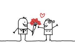 Couple & roses Royalty Free Stock Images