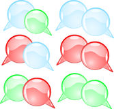 Couple round speech bubbles Stock Photo