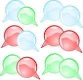 Couple round speech bubbles Stock Photo