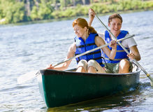 Free Couple Rowing Boat Stock Photography - 7329872