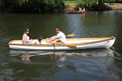 Couple in rowing boat, Stratford-upon-Avon. Stock Image