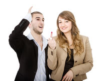 Couple rude gesture Stock Images