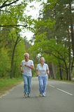 Couple run in summer Royalty Free Stock Photography