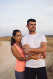 Couple of runners portrait Stock Photo