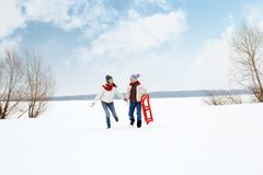 Couple running Royalty Free Stock Photography
