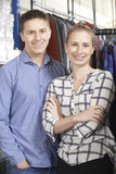 Couple Running On Line Fashion Business Stock Photo