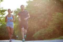 Couple running Stock Photo