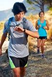 Couple training fitness Stock Photo