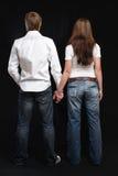 Couple's back. Royalty Free Stock Image
