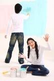 Couple's Everyday Life Royalty Free Stock Photos