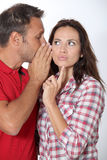 Couple's expressions Royalty Free Stock Photography
