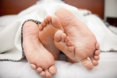 Couple's feet Royalty Free Stock Photography