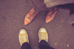 Couple's feet Royalty Free Stock Photo
