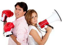 Couple's fight Stock Image