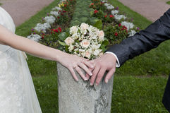 Couple's hands Royalty Free Stock Image