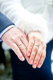 Couple's hands with rings Royalty Free Stock Image