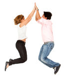 Couple�s high-five Stock Photography
