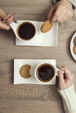 Couple`s morning coffee Royalty Free Stock Image
