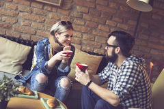Couple`s morning coffee Royalty Free Stock Photography