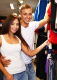 Couple in s sport outlet Stock Images