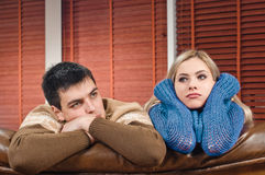 Couple in sadness Stock Images