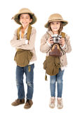 Couple in safari costume Royalty Free Stock Images
