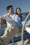 Couple On Sailboat Royalty Free Stock Image