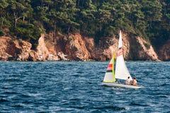 Couple Sailing Stock Image