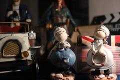 Couple sailor dolls Stock Images