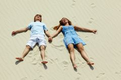 Couple on sand Royalty Free Stock Photo