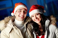 Couple of Santas Stock Images