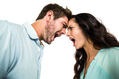Couple screaming and arguing Royalty Free Stock Photos