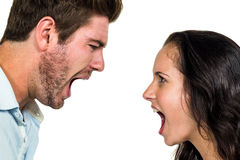 Couple screaming and having argument Stock Image