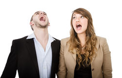 Couple screaming Royalty Free Stock Photos