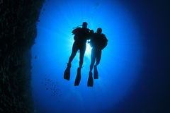 Couple Scuba Diving Royalty Free Stock Photo