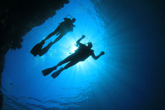 Couple Scuba Diving Stock Photo