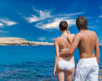 A couple in the sea Royalty Free Stock Image