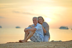 Couple at sea Royalty Free Stock Photos