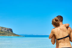 Couple in the sea Royalty Free Stock Images